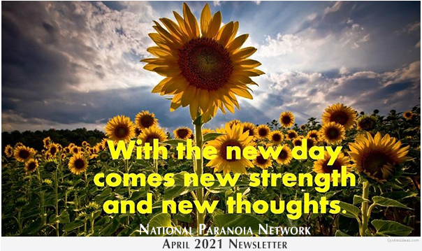 National Paranoia Network April Newsletter 2021